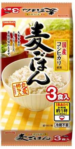 麦ごはん 3食 160g×3
