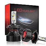 KOOMTOOM 16000LM 車検対応 車用ledヘッドライトH4 Hi/Lo ledヘッドライト 爆光タイプ登場!一体型 LEDヘッドライト ワンタッチ 瞬間起動 1年保証