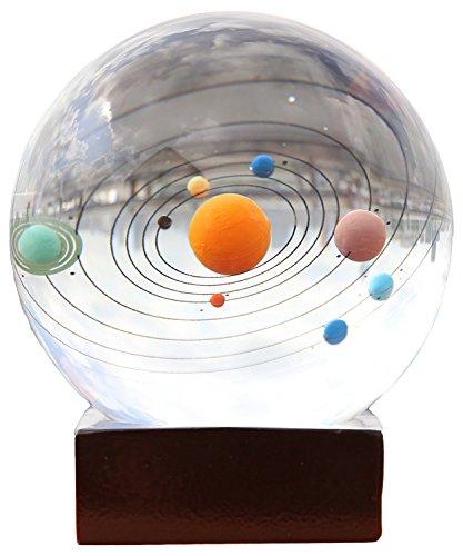 Greencherry 立体的なレーザー彫り 太陽系のクリスタルボール ペーパーウエイト ホーム飾り クリエーティブ ギフト