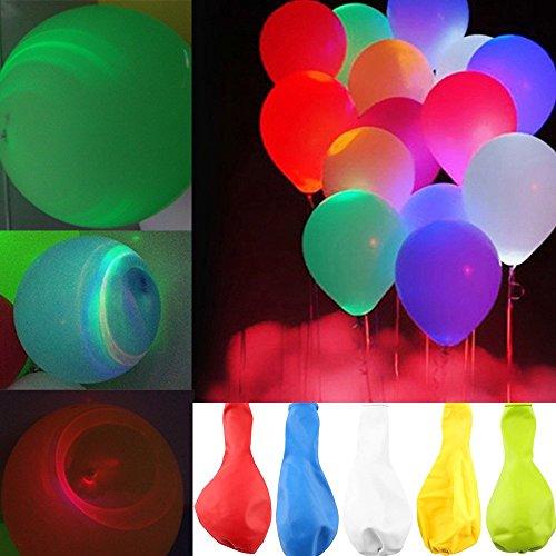 光る風船 LED風船 幻想風船 光るバルーン 光る気球 バルーン お祭り イベント 誕生日/ 結婚式/花火大会 /クリスマス パーティーなどに飾り バレンタイン (15PCSセット)