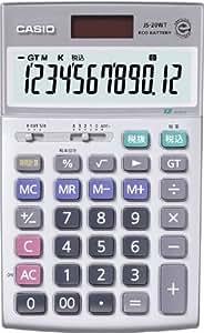 CASIO ジャスト型電卓 時間計算タイプ12桁JS-20WT