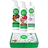 Fresh Monster Kids & Baby Gift Set - Natural, Toxin-Free Shampoo & Conditioner, Body Wash, and Bubble Bath , Green , (3 Piece)