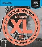 【国内正規品】 D'Addario ダダリオ エレキギター弦 XL ニッケルラウンドワウンド 3弦巻き弦 Regular Light(10-46) EXL-110w EXL110w