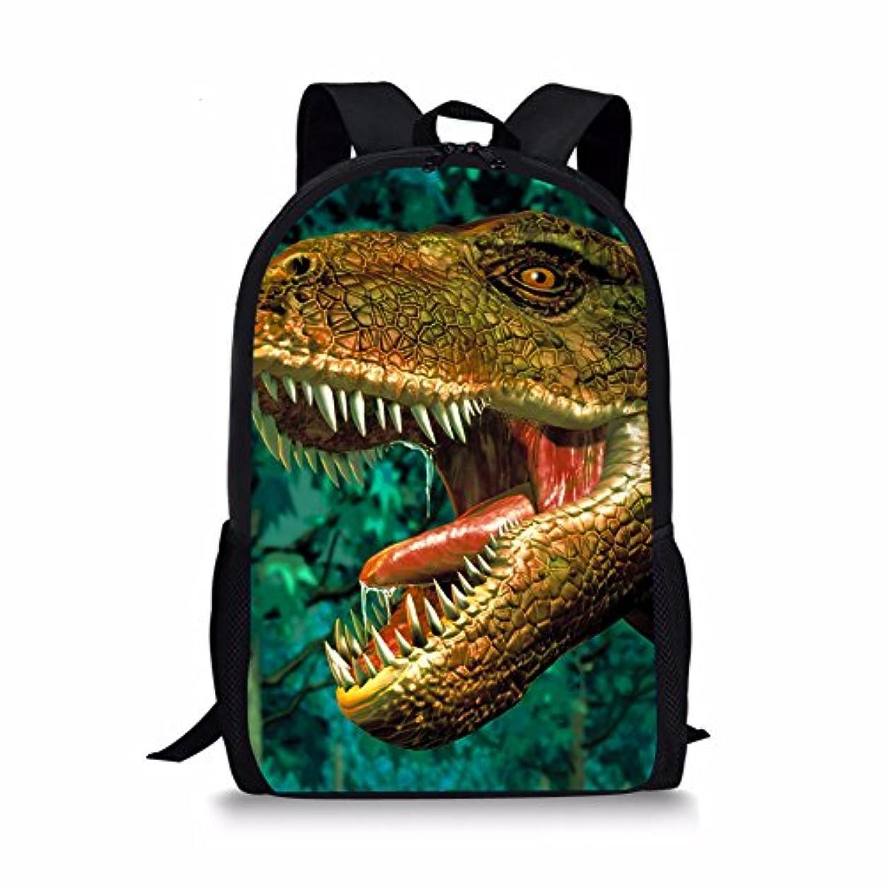 トランスペアレント急勾配の辛いThiKin リュック キッズ 人気 可愛い 恐竜 柄 大容量 ポリエステル バックパック 多機能 軽量 A4サイズ対応 旅行 高校生 通勤 通学デイパック プレゼント