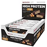 MUSASHI P45 Low Carb Salted Caramel High Protein Bar, 12 x 90g