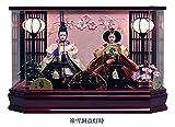 吉徳 雛人形 ケース入り親王飾り 間口56×奥行30×高さ36cm 六角アクリルケース 322195 画像