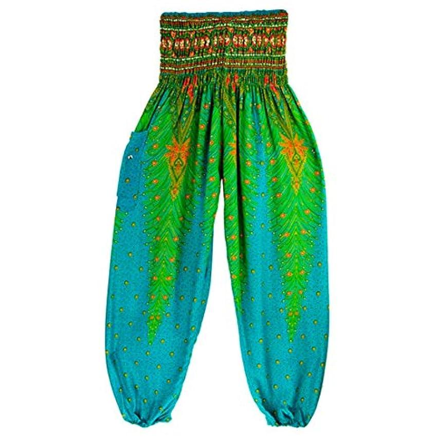 Mhomzawa ヨガ?パンツ男性女性タイのハレムのズボンフェスティバルヒッピーのスモックハイウエストのヨガパンツパンツ変わり者祭ハイウエスト?ヨガ?パンツ