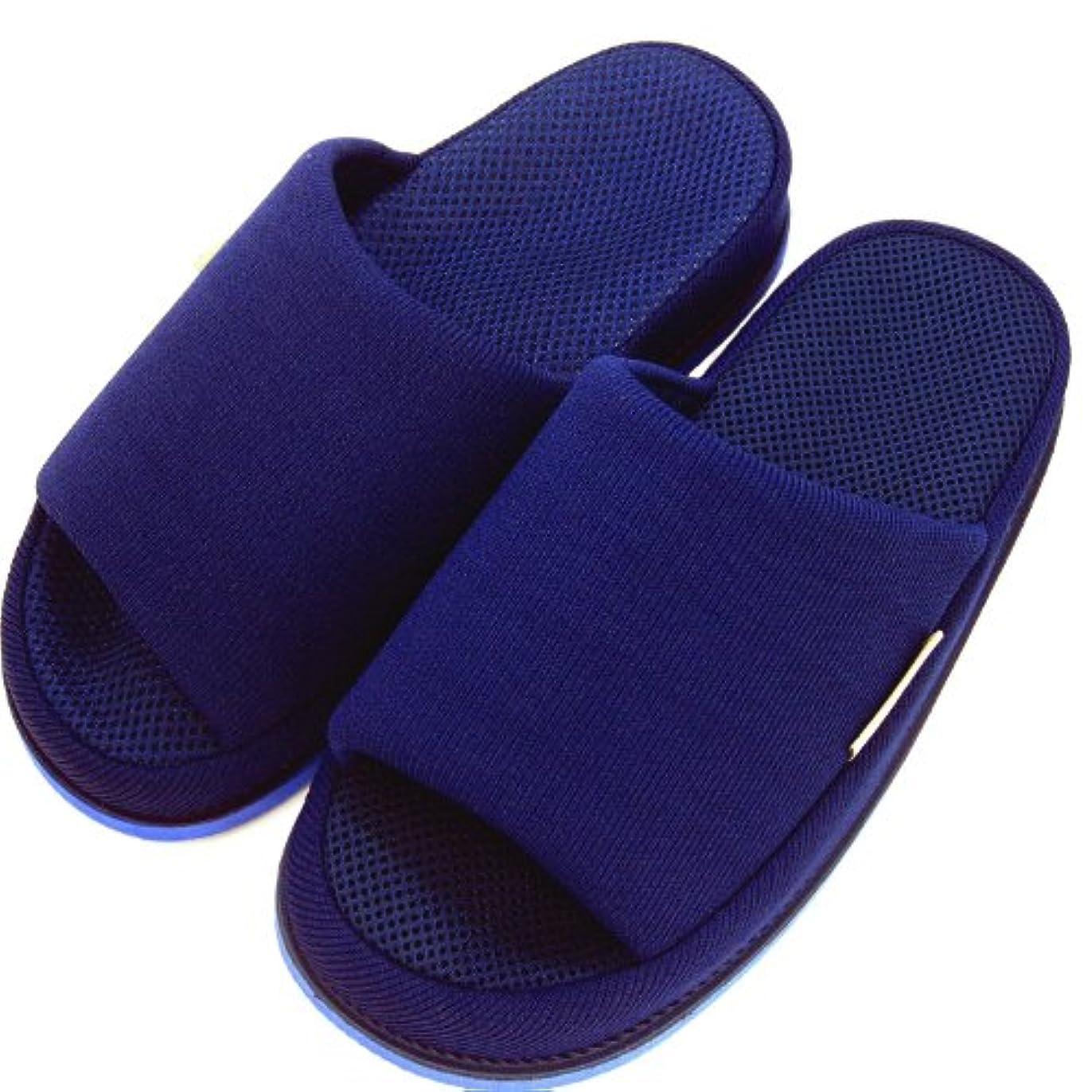 方言控えめな細分化するオクムラ スリッパ ブルー 23×28×9cm