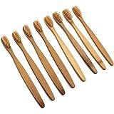 Healifty 柔らかい剛毛が付いているタケ歯ブラシの自然な木のECOの友好的な歯ブラシ歯ブラシ16pcs