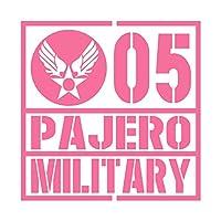 ミリタリー PAJERO パジェロ カッティング ステッカー ピンク 桃