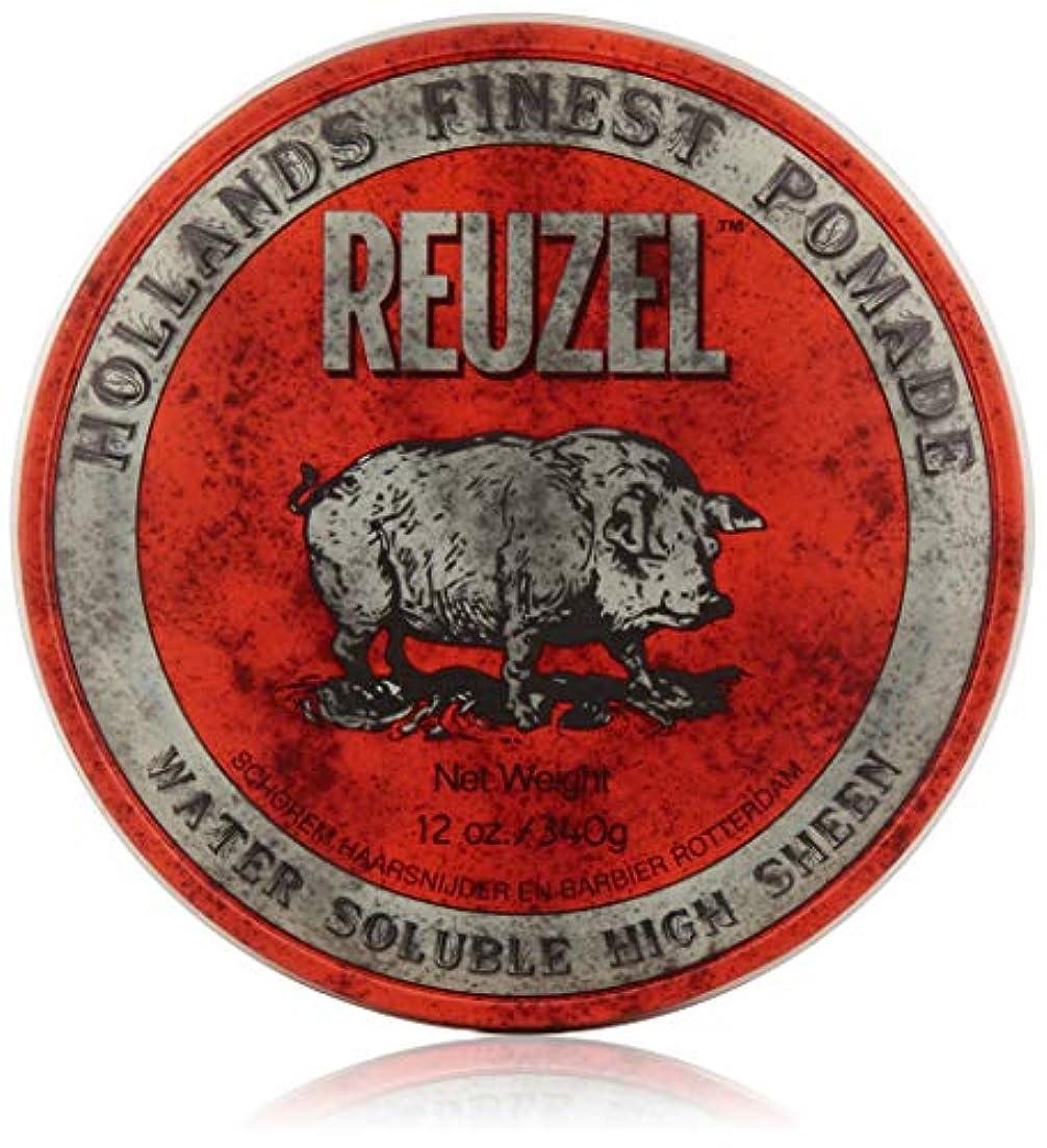 織るシャイニング柔らかいREUZEL Hair Pomade Hog, Red, 12 oz by REUZEL