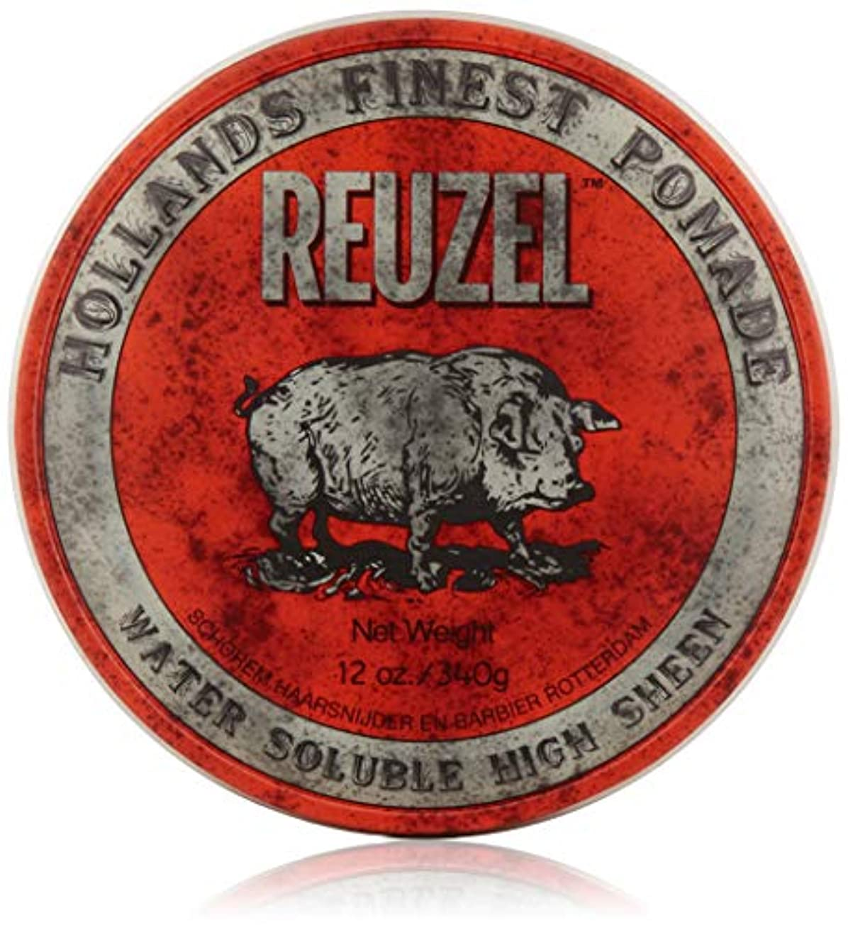 スタンド期待するディスクREUZEL Hair Pomade Hog, Red, 12 oz by REUZEL