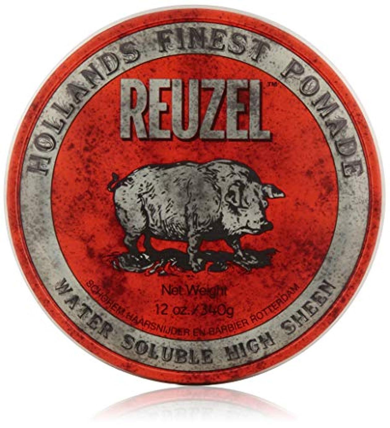 操作可能従順家族REUZEL Hair Pomade Hog, Red, 12 oz by REUZEL