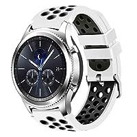 For Samsung Gear s3フロンティアとクラシック時計、creategreatソフト交換用通気性スポーツバンドwith Air穴for Samsung Gear s3スマート時計バンド