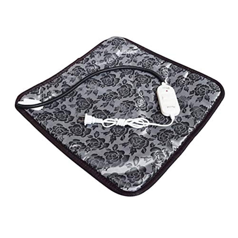 操縦するジャニス共和党Saikogoods 快適な防水オックスフォード布ペット電気パッドは冬は暖かい温水暖房マット犬猫バニーベッドをキープブランケット 黒