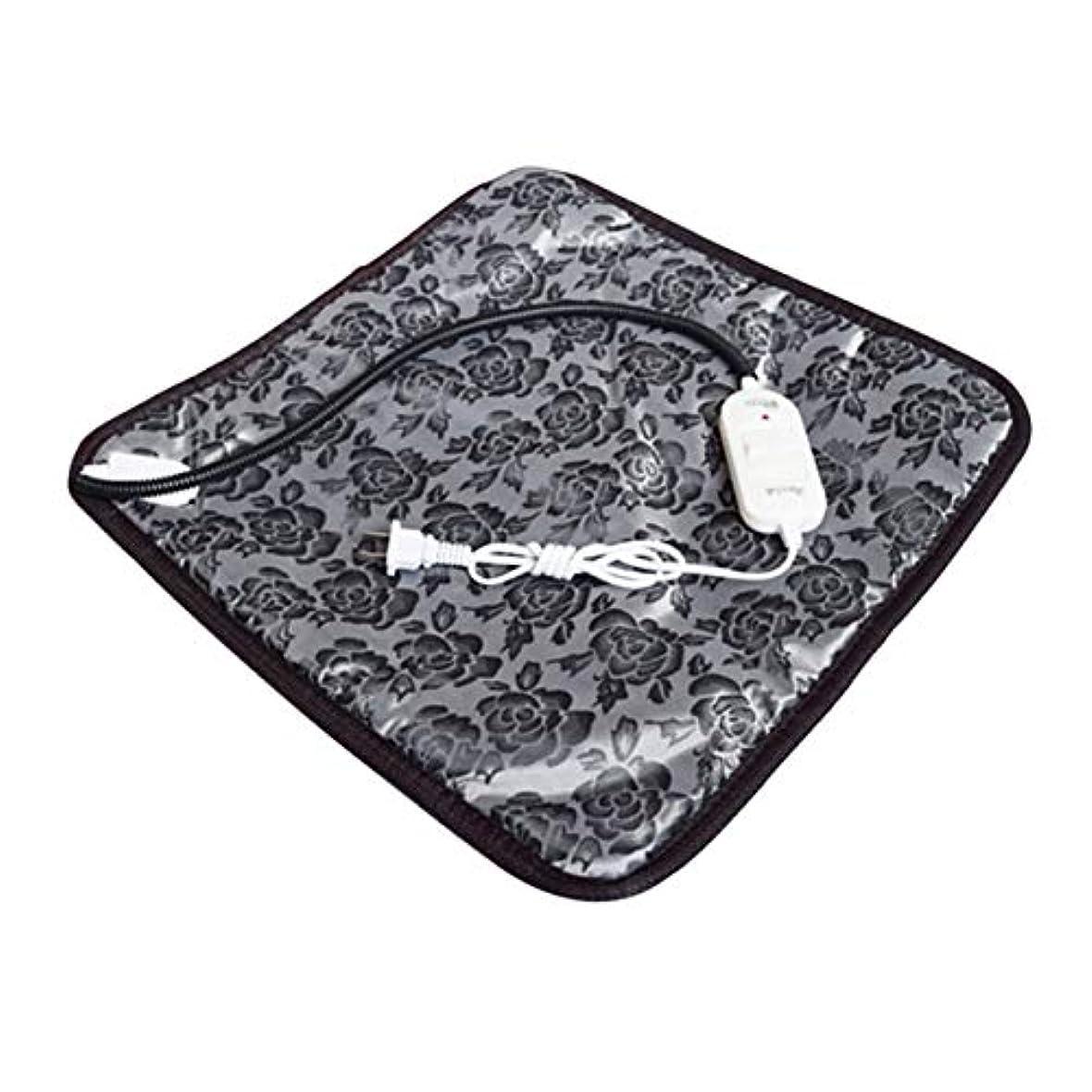 事実上セラフ援助Saikogoods 快適な防水オックスフォード布ペット電気パッドは冬は暖かい温水暖房マット犬猫バニーベッドをキープブランケット 黒