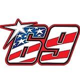 "2pcs /ケンタッキーKid Nicky Hayden # 69version3–4""デカールステッカー"