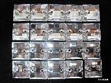 【100円均一】No.675手芸用ビジュー(アクリルビーズ ラインストーン)クリスタル(四角)0.8×0.8cm_20個入り
