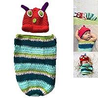 aiviaiベビー新生児写真小道具Caterpillarスタイルハンドメイドかぎ針編み布