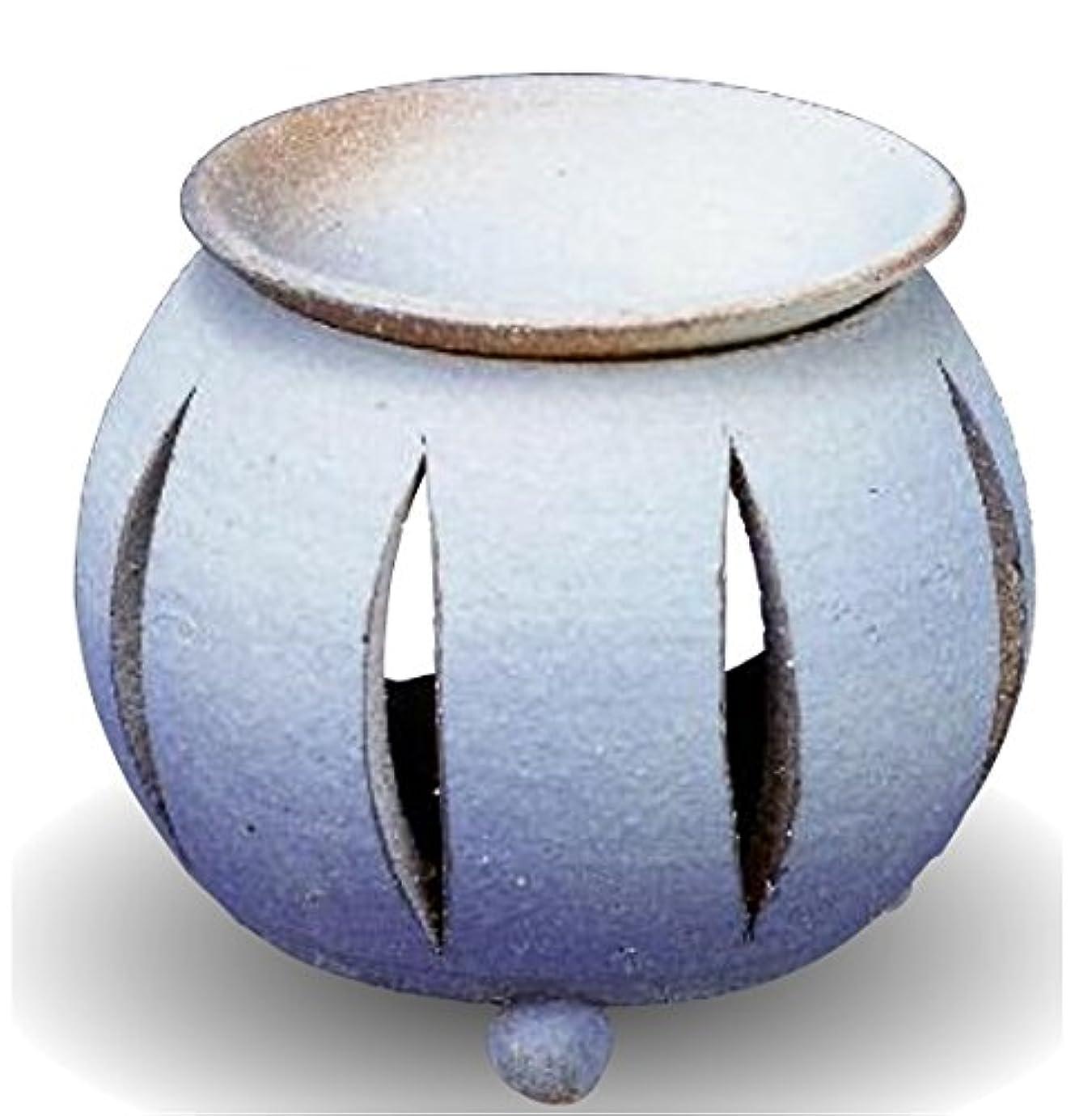霊印をつけるロマンチック常滑焼 茶香炉(アロマポット)径10×高さ11.5cm