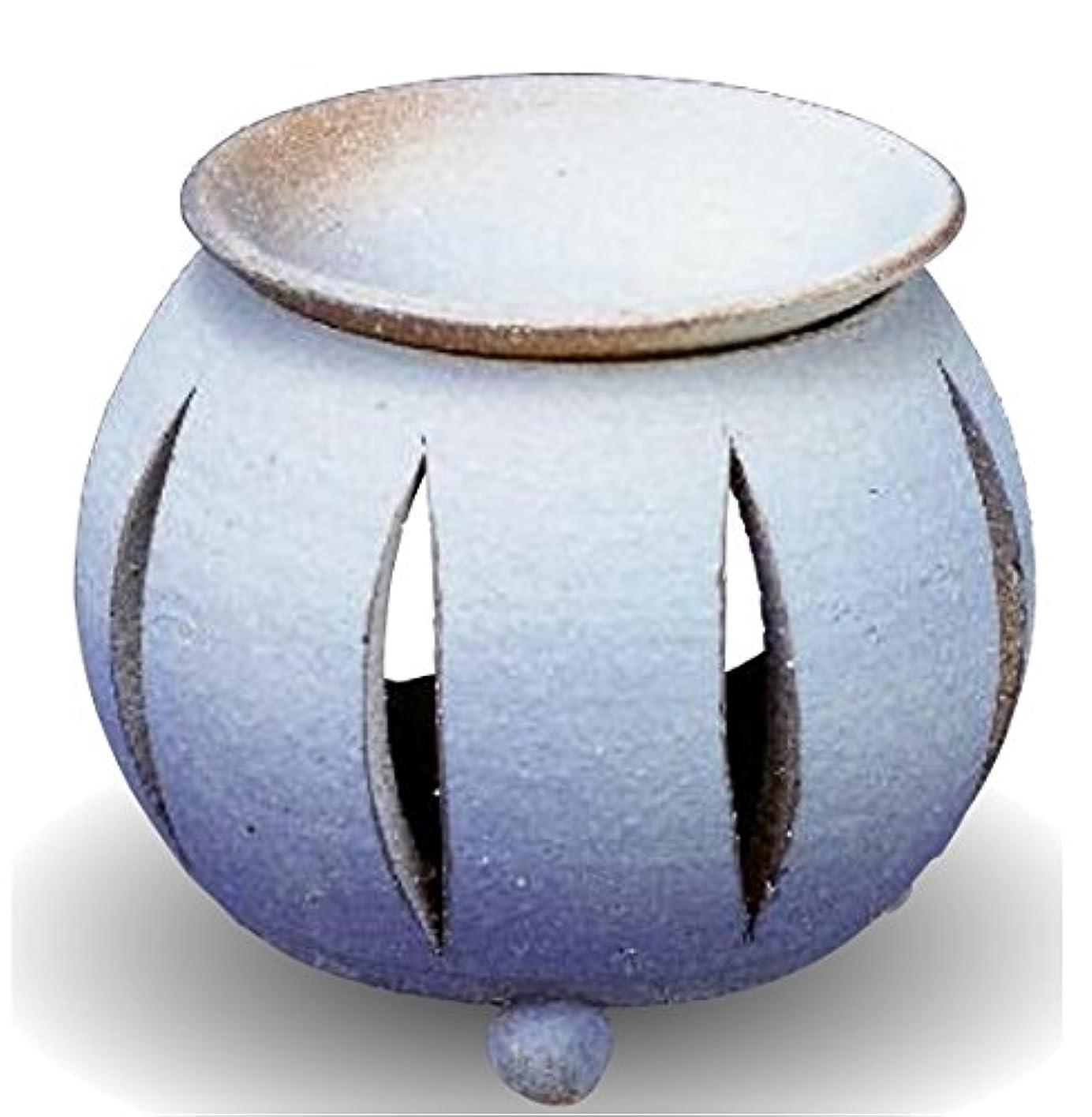 許容リゾート粘着性常滑焼 茶香炉(アロマポット)径10×高さ11.5cm