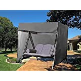 Outdoor Swing Covers Patio Garden Hammock Glider Cover Durable Waterproof UV Resistant Weather Protector (Black)
