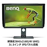 BenQ カラーマネージメントモニター SW320 32インチ/4K UHD/IPS/遮光フード付