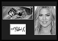 10種類! クロエ・カーダシアン/Khloe Kardashian/サインプリント&証明書付きフレーム/BW/モノクロ/ディスプレイ/3W (05) [並行輸入品]