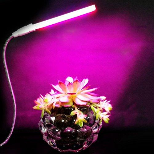LEDGLE 植物育成LEDライト USB対応水耕栽培ランプ 植物栽培用LEDライト14灯 省エネ 観葉植物育つLEDライト(赤/青)USBケーブル付き