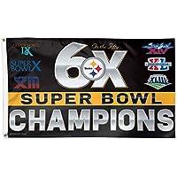 Pittsburgh Steelers nfl 6 x Super Bowl Champs記念3 ftx5ftデラックスフラグ