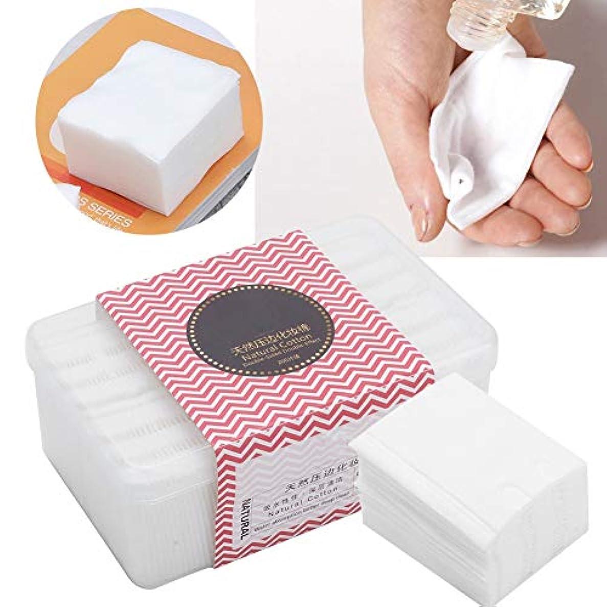 想像力豊かなベスビオ山ナプキン使い捨て化粧パッド メイク 200枚セット 化粧品リムーバークリーニングワイプ
