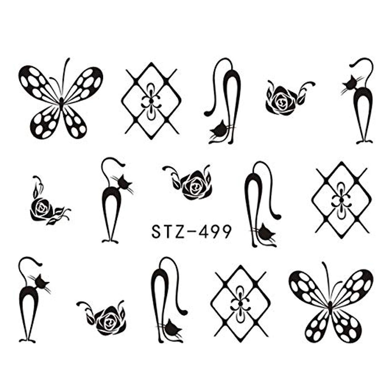 おもちゃ店主腐敗CELINEZL CELINEZL 3 PCS DIYファッション水転写アートデカールネイルステッカー(STZ500) (色 : STZ499)