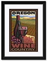 NorthwestアートMallオレゴンワイン国Framedアートプリントbyポール・A Lanquist。 12x18/18x24 inch PAL-0025 NFMF-EB