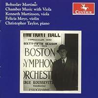 Chamber Music With Viola by B. Martinu (2008-07-29)