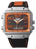 [アビレックス]AVIREX 腕時計 強化ナイロンデジアナカーボン&オレンジメンズAX-016M-6