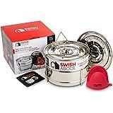 Instant Pressure Cooker Pot Accessories, Ultra Stackable Steamer Insert Pans, for 6qt, 8qt Instapot