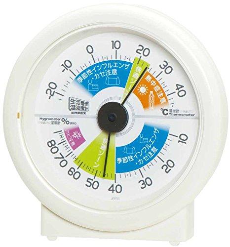 エンペックス気象計 温度湿度計 生活管理温湿度計 置き用 日...