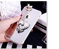 人気商品 [強化ガラスフイルム+ BLING RING STAND ダイヤー鏡面ケース」SPRING COME iPhone7 iPhone8 ビジネスマン 奥様 OLに向け 枠キラキラ ダイヤー 貼り付ける 鏡面 鏡 3D リング スタンド機能 ミラー ロゴ丸見え 軽量 生活防水 防衝撃 ウルトラ スリム 超薄型 バック ケース アイフォン8 アイフォン7 カバー スマホケース スマホカバー 超薄 軽量 プラスチック製 アイホン7/8 カバー アイフォーン (アイホン7/8, シルバー ハード) [並行輸入品]