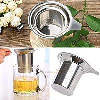 ステンレススチール メッシュ ティーインフューザー ストレーナー 茶葉 スパイスフィルター