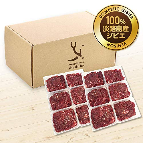 淡路島産 犬 用 鹿肉 冷凍 生肉 ミンチ 0.5kg 小分けトレー約40g×12【ベニソン】