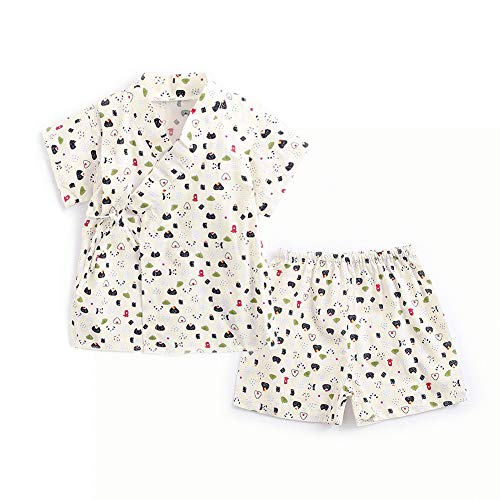 Simplee kids Japanese Clothing Kimonos Cute Japanese Clothes for Baby Boy 2-3T White