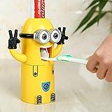YAh 歯ブラシディスペンサー卑劣ミー歯ブラシホルダー自動歯磨き粉ディスペンサー歯磨き粉スクイーザディスペンサー