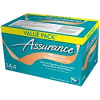 Assurance Premium Washcloths Value Pack 144 Count Carton (2-Carton Multipack 288 Washcloths Total) by Assurance