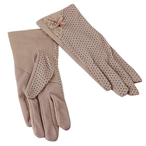 (ピーキー)Peigee紫外線をしっかりガード!!清涼メッシュ UVカット 日焼け止め手袋 UVカット 手袋 ショート グローブ 薄手 メッシュ 清涼 レース 花 水玉 柄 滑止め付 女性 レディース