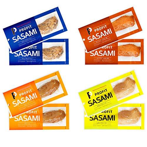 プロフィット ささみ PROFIT SASAMI 丸善 味付け ささみ 8個 (4種×2) クリックポスト 真空パック入り ササミ プロテイン 朝食 スポーツ ジム トレーニング チキン 鶏