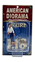 1/18 American Diorama Woman and Dog 2体入 フリスビードッグ 女 犬 人形 フィギュア ジオラマ 模型