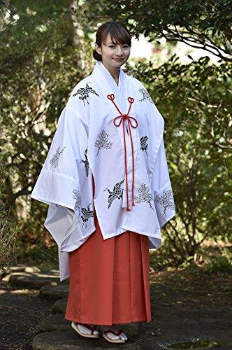 【巫女】巫女装束 ちはや 白衣 袴 京都仕立ての和装衣 3サイズ (S, ブロード白衣)