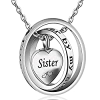 AYHU no longer by my side Forever In My Heart Carved Memorial ccremation Urn灰ネックレス記念品ペンダントジュエリーfor Mom DadおばあちゃんSister Uncle