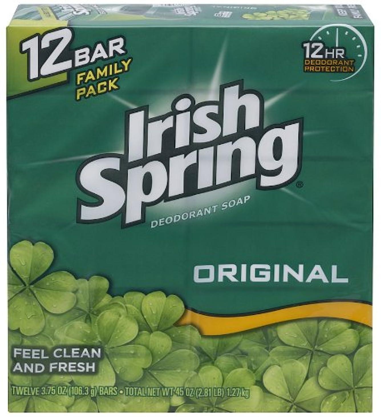 順応性のあるどのくらいの頻度で民間Irish Spring 入浴石鹸、オリジナル、3.75オズ。バー、12カウント
