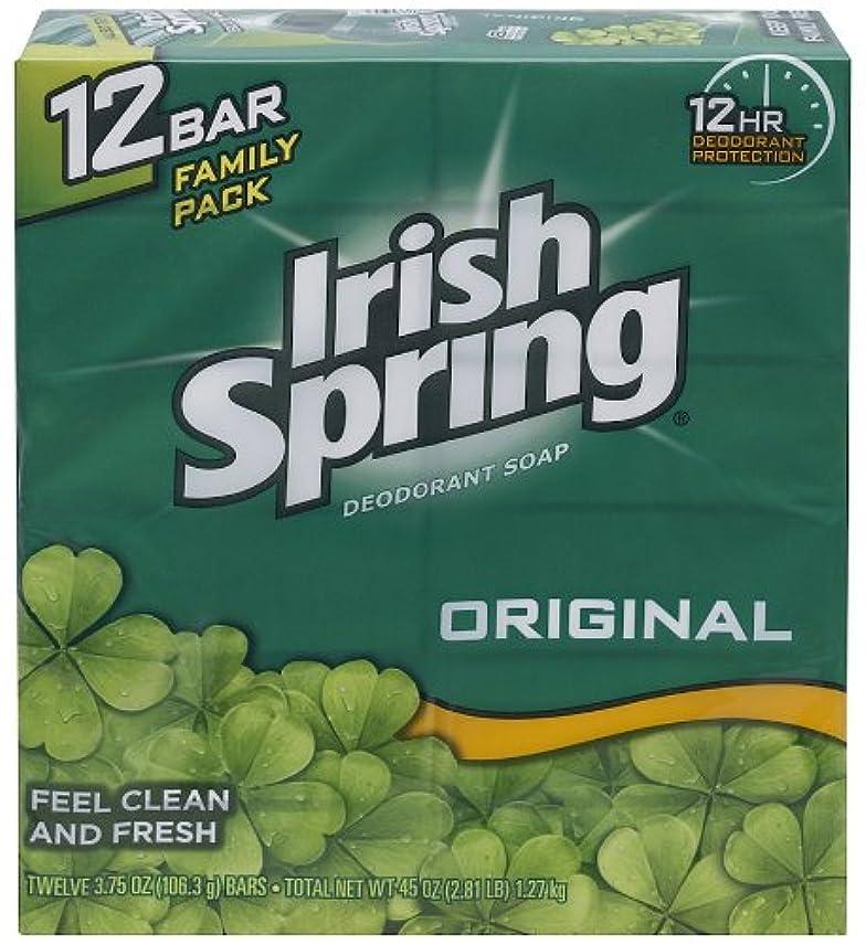 ラボアプト製油所Irish Spring 入浴石鹸、オリジナル、3.75オズ。バー、12カウント